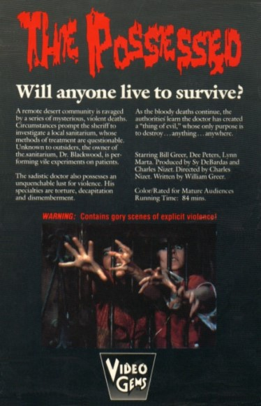 possessed 1974 vhs back2